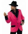 Heren colbert roze met zwart