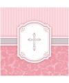 Roze Communie servetten 33 x 33 cm