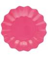 Feestartikelen diepe borden roze 27 cm