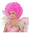 Fee dames pruik neon roze