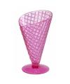 Zomer ijscoupes 9.2 cm roze