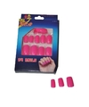 Roze neon nepnagels setje 24