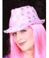Roze pailletten deuk hoedje