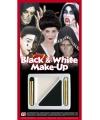 Make-up spook setje zwart.wit