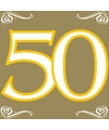 Gouden verjaardag servetten 50 jaar