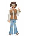 Hippie man van karton 88 cm