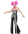 Halloween dames kleding skelet