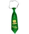 Ierse St Patricks Day Kiss Me stropdas voor volwassenen