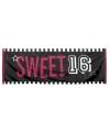 Spandoek sweet 16 feest 74 x 220 cm