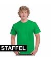 Staffelkorting felgroene T-shirts unisex
