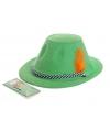 Oktoberfest hoedje groen met veer