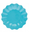Feestartikelen diepe borden turquoise 21 cm