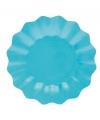 Feestartikelen diepe borden turquoise 27 cm