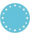 Turquoise placemats met sterren 33 cm