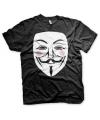 Zwart V for Vendetta t-shirt