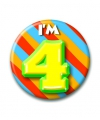 Verjaardags button I am 4