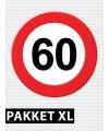 60 jarige verkeerbord decoratie pakket XL