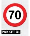 70 jarige verkeerbord decoratie pakket XL
