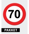 70 jarige verkeerbord decoratie pakket