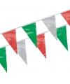 Vlaggenlijntje groen/rood/wit 4 m
