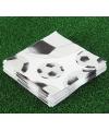 Servetten 20 stuks voetbal print