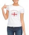 T-shirt met vlag Engelse print voor dames