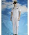 Witte tuinbroek overall voor volwassenen
