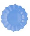 Feestartikelen diepe borden zeeblauw 21 cm