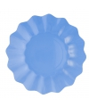 Feestartikelen diepe borden zeeblauw 27 cm