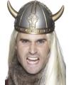 Plastic Viking helm zilver
