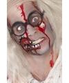 Horror schmink met litteken en bloed