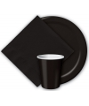 Zwarte bordjes 23 cm
