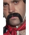 Zwarte western snor