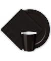 Zwarte wegwerp bekertjes 8 stuks