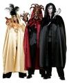 Zwarte Venetiaanse cape voor volwassenen